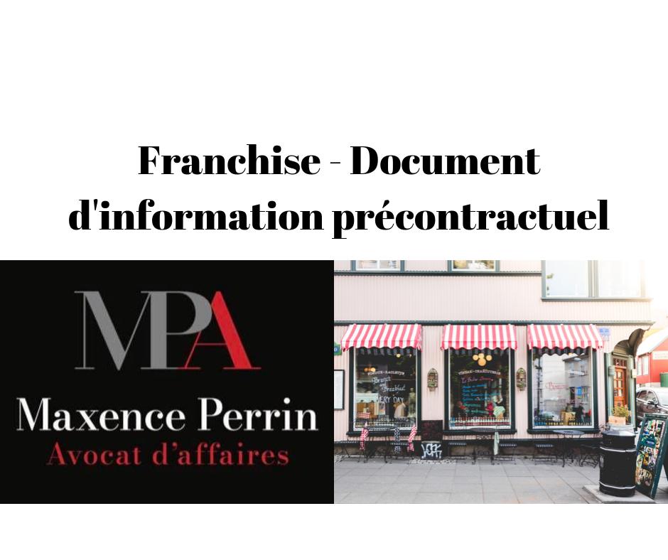 Droit de la franchise : document d'information précontractuel