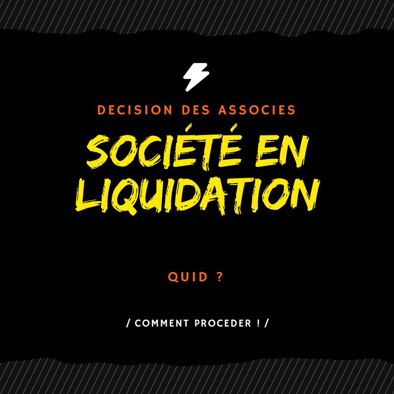 La liquidation amiable d'une société