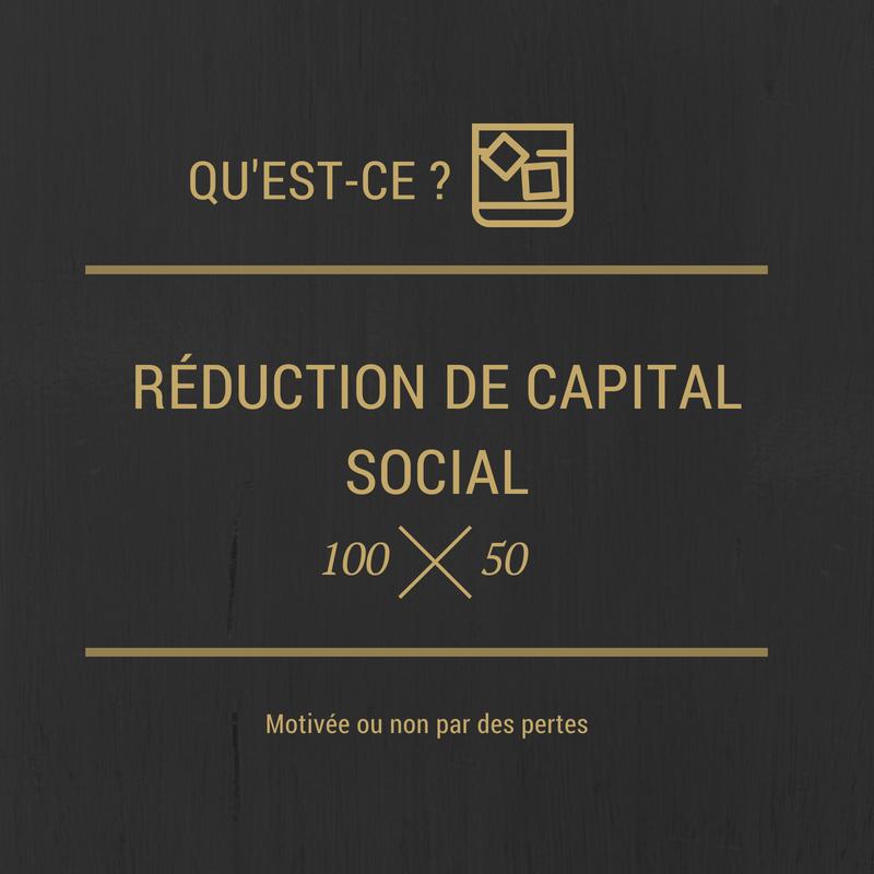 La réduction de capital
