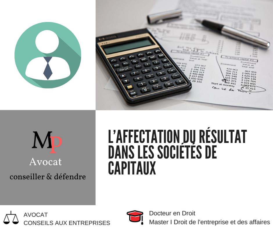 L'affectation du résultat dans les sociétés de capitaux
