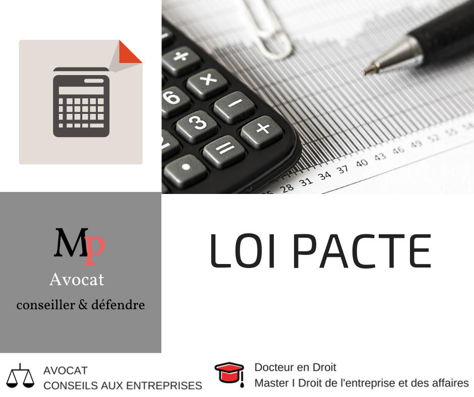 Loi pacte et commissariat aux comptes