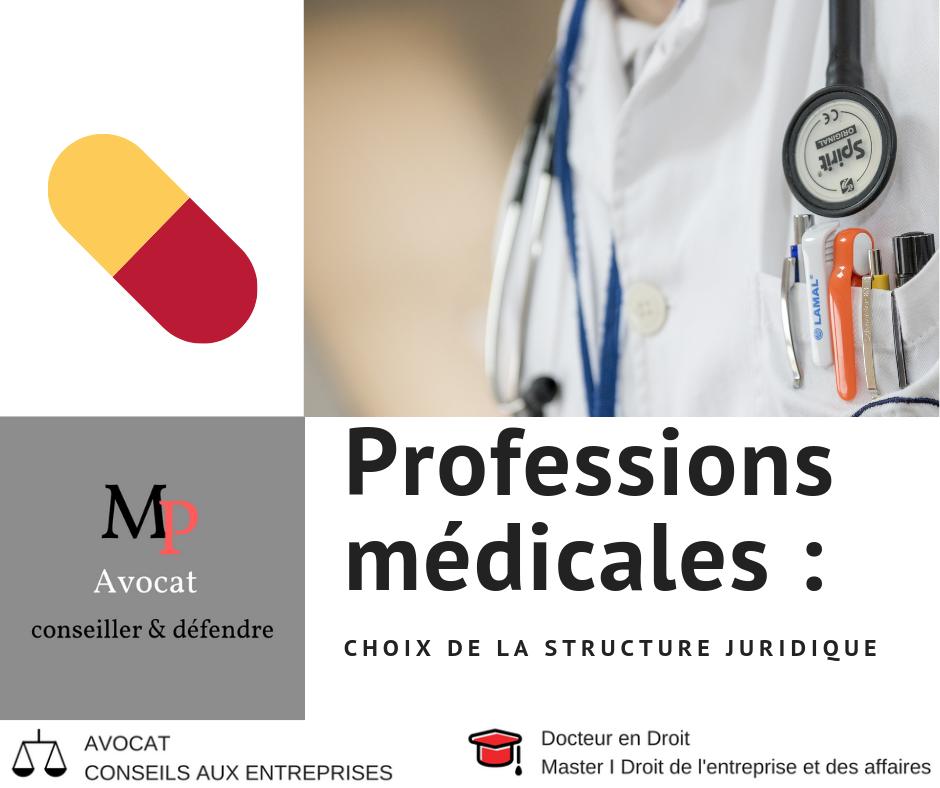 Les structures d'exercice possibles pour les professions médicales